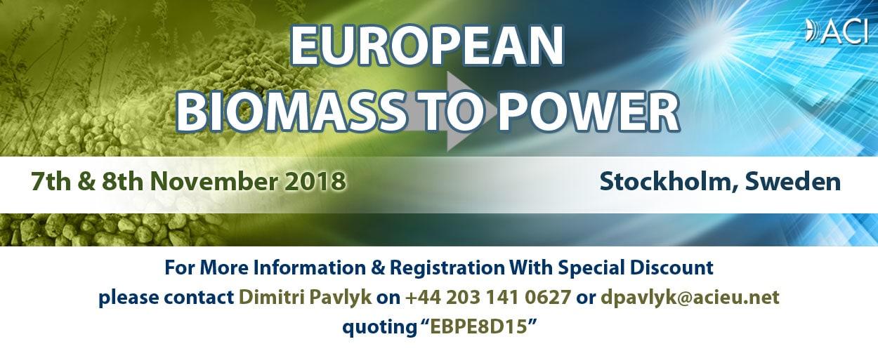 European Biomass to Power 2018